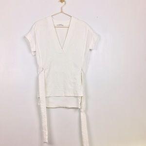 Zara v neck tunic with belt loops